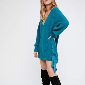 Free People Be Mine Side Tie Alpaca Wool Sweater